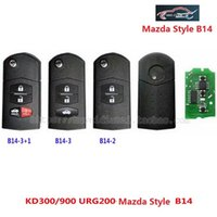 Wholesale Key Programmer For Remotes - (2 pieces) B14 3 Button Remote Key For Mazda Style Folding Key Use with URG200 KD900 KD200 with best quality Free shipping