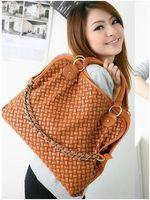 Wholesale Korean Style Hobo Handbags - On sale Korean Hobo PU Leather Handbag Shoulder Bag Black Brown Coffee Fantastic Gorgeous Free Shipping