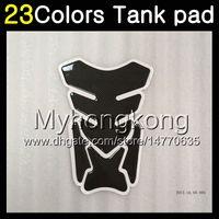 Wholesale Kawasaki Ninja Gas Tank - 23Colors 3D Carbon Fiber Gas Tank Pad Protector For KAWASAKI NINJA Z750 04 05 06 Z-750 Z-750S 04-06 Z750S 2004 2005 2006 3D Tank Cap Sticker