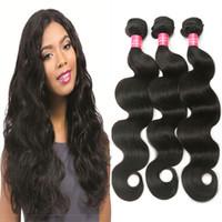 Wholesale Virgin Body Wave 3pcs Queen - Rainbow Queen Peruvian Virgin Hair Bundles Body Wave Hair Extension 8-28 Inch 3pcs lot Human Hair Bundles Natural Color for Black Women