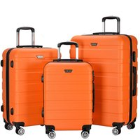 Wholesale Luggage Wholesalers - 3 Piece Lightweight Carry on Luggage Set wheel spinner Suitcase (20 + 24 + 28 inches) Travel Suitcase ABS School Rolling Trolley US Fedex