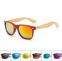 Wholesale Cheap Bamboo Sunglasses - 10pcs lot Bamboo Foot Fashion Sunshade Glasses Resin lenses Designer Sunglasses for Men Women 17 Colors Summer Sun Glasses Cheap