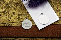 """Wholesale Fishing Like - stainless steel charms""""It's okay to drink like a fish if you're a Mermaid""""5 style for choosing DIY Charms Pendants"""