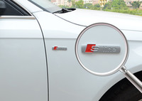 Wholesale S Line Logo Badge - 100 pcs lot wholesale 3D metal car stickers emblem badge s line letters car styling for Audi logo auto accessories opp bag