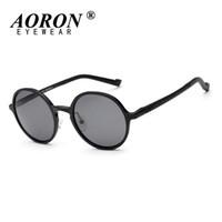 aca42b45f4 AORON Unisex Polarized Round Circle Teashades Sunglasses John Lennon Granny Sun  Glasses Driving Glasses Eyewear Oculos Fashion