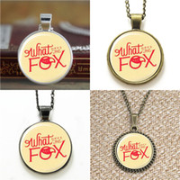 Wholesale Earring Fox - 10pcs What Does The Fox Say Symbol Pendant Necklace keyring bookmark cufflink earring bracelet