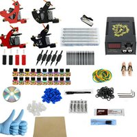 Wholesale Cheapest Tattoo - Tattoo Kit Cheap Tattoo Machine Set Kit a Pen Tattooing Ink Machine Gun Supplies For Jewelry Weapon Professional