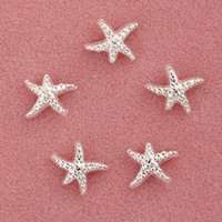Wholesale Sweet Colors Nails - Nail Sticker Nail Art Decorations Decorative Accessories Alloy Fine Starfish Gold Silver 2 Colors Optional Sweet Style Nails Art