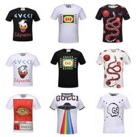 Wholesale Hand Painted Love - high quality summer new tide brand G t-shirt blind for love Tiger head print men fashion cotton Short sleeves Men's Polos