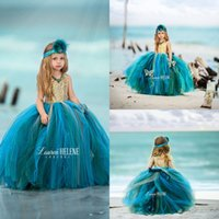 Wholesale make tiered tutu resale online - 2017 New Puffy Tutu Flower Girl Dresses Tiered Sequined Tulle Birthday First Communion Birthday Wedding Party Ball Gown Princess Gowns