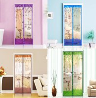 Wholesale magnetic mesh screen door mosquito for sale - 1PC Durable Magnetic Mesh Screen Door Mosquito Net Sheer Curtains Protect Kitchen Window Organza Scree cm cm Colors