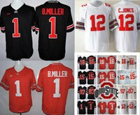Cucchiaino NCAA LIMITED Stato Ohio Buckeyes # 15 Elliott # 97 Joey Bosa # 12 C.JONES # 16 BARRETT # 1 B.Miller blackout men Jerseys hotsale