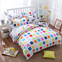 Wholesale cream duvet sets - Wholesale- Summer style cotton bedding set Super soft twin Full Queen King Nordic style Duvet Cover bed sheet Pillowcase no quilt