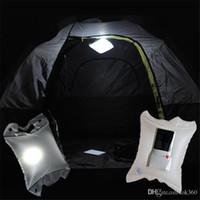 almofadas ao ar livre venda por atacado-New Solar Air Lamp Solar inflate lâmpada LED solar saco de acampamento lâmpada LED Coxim ao ar livre safty caminho do jardim festa de casamento de férias bonito luz