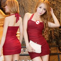Wholesale Tight Mini Dress Sexy Lingerie - 2017 new Lingerie evening spice girls dress skirt tight package arm Club suit extreme temptation free shipping