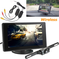 Wholesale Digital Wireless Monitor - 4.3 Inch Digital Color TFT LCD car wireless Parking camera + Wireless Waterproof 420TVL Night vision Rear view Reverse Camera CMO_384