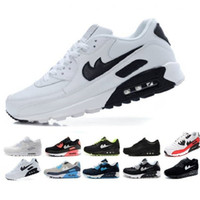 Wholesale Womens Black Canvas - Brand New Hight Quality Mens Womens Classic 90 casual Shoes Black White Mens Womens Trainers Sneakers Man Walking Air Sports tennis Shoes
