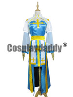 vestidos xl online al por mayor-Ragnarok Online Cosplay Arch Obispo Blue Dress