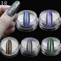 Wholesale Sparkly Nail Tips - Wholesale- 1Bottle Beautiful Shining Nail Tips UV Acrylic Decorations Five Color Nail Art Glitters Sparkly Magic Glimmer HC01-05