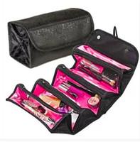 Wholesale Easy N - Wholesale- Hot TV Selling Roll-N-Go Cosmetic Bag Large Capacity Multifunctional Storage Bag Rolls Up For Easy Travel