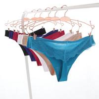 bikini mini hot toptan satış-Seksi Dantel Sıcak Kadınlar Seksi Dikişsiz Iç Çamaşırı Kadın Külot G Dize kadın Külot Calcinha Lingerie Tanga Tanga Kadınlar Için