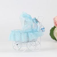 carrinhos de bebê de casamento venda por atacado-Supplies New Baby caixas carrinho de doces do partido do bebê do casamento favor do chuveiro do metal do partido do evento Caixas de presente