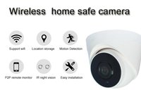 Wholesale Outdoor Cctv Camera Iphone - 4ADM 1080P wireless security ip camera p2p indoor camera cctv dome camera Support iPhone   Android mobile phone connection AT