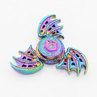 Wholesale Plastic Eyes Bear - Dragon Eye Rainbow Hand Spinner 2017 Alloy Material Eagle Wing Metal Fidget Spinners Bearing Myth Game Toys