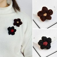 Nette Hairy Woolen Blumen Pins für Strickjacke Brosche Button Pins Denim Jacke Badge für Tasche Hut Schmuck Geschenk für Mädchen Kinder