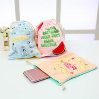 Wholesale Plush Make Up - Wholesale- New cute cartoon printing makeup bag portable toiletries make up storage pouch soft plush handbag organizer Totoro cosmetic bag