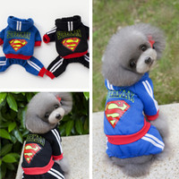 Wholesale Pet Sweaters Legs - Wholesale dog clothing, pet clothing autumn and winter models, dog clothes Teddy clothes, Superman four-legged sweater
