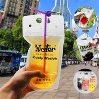 Wholesale plastic bags storage container for sale - Group buy Five styles Transparent Self sealed Plastic Beverage Bag Originality Drink Container juice Bag Fruit Juice Food Storage Bag IA544