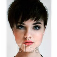 Wholesale Very Cheap Indian Hair - None Lace guleless Wigs very short Human Hair wigs for Black Women cheap none lace wig brazilian human Hair Wigs