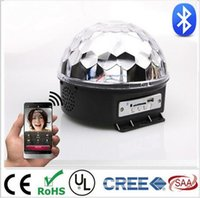 Wholesale Bluetooth MP3 magic crystal ball KTV disco disco colorful laser stage lighting voice LED magic ball