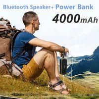 Wholesale power card reader - Wholesale W-king S9 Outdoor Waterproof Bluetooth Speaker Portable Wireless Hands-free Stereo Speaker Power Bank 4000mAh charge mobile phones
