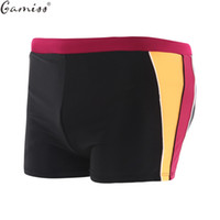 Wholesale Sexy Tall Man - Wholesale- Gamiss Men's Surfing Boxer Swimwear Sexy Breathable Swimming Shorts Sea Big & Tall Plus Size Men Beachwear Sport Style Swimsuit