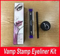 Wholesale Quick Dry Medium - New Vamp stamp Winged Liner set double-ended Vavavoom Wing Stamp Vavavoom Medium Large wing stamp with eyliner cream