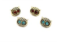Wholesale antique jewelry earing - Antique Gold Big Eye Owl Stud Earrings Fashion Jewelry Brincos Crystal Earing 2017 pendientes mujer Wholesale HOT Selling