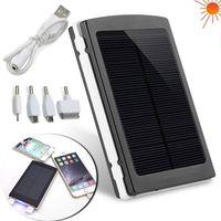 carregadores de laptop com painel solar venda por atacado-Dual USB 30000 mAh Carregadores de Bateria Solar de Alta Capacidade Dupla USB Painel de Energia Solar do Banco De Potência para o Telefone Móvel PAD Tablet Laptop