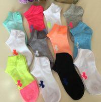 Wholesale Under Socks - Under Armo Socks Women Football Cheerleaders Stockings Ship boat Short Sports Stocking Under Armor Ankle skateboard socks brands VS pink