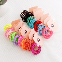 Wholesale Style Hair For Girl - Hot Sale 20sets lot Fashion Candy Colors Girls Hair Ties Simple Style Elastic Holder Headbands for Children