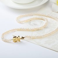 spain plate - TL Stainless Steel Pearl Necklace Bear Jewelry For Women Colours Fashion New Spain Brand Popular