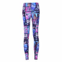 Wholesale Fitness Doctors - Wholesale- NEW Arrival 3587 Sexy Girl Women Doctor Who Tardis Cyberman 3D Prints Workout Elastic Fitness Leggings Pants