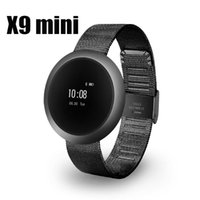 Wholesale Heart Rate Monitor Gel - X9MINI Waterproof Silicone Gel Strap Heart Rate Monitoring Smart Bracelet Bluetooth Touch Screen Smart Watch X9 mini For Iphone Samsung