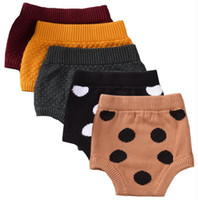 Unisex spring breads - New Baby INS pp pants cartoon knitting Dot infant shorts pants Kids Briefs summer Bread pants