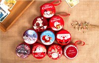 Wholesale Candy Tin Cans Wholesale - Christmas Ornament Originality The small tin Practicability Gift Can Save change, headphones, keys, candy storage bag