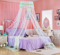 Wholesale Elegant Round Hung Dome Mosquito Net Princess Insect Bed Canopy Netting Lace Round Mosquito Nets Curtain for Bedding home