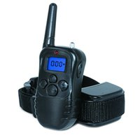 Wholesale Rechargeable Electric Dog - Remote Dog Training Collar - 1000 ft Remote Rechargeable and Rainproof Training Beep  Vibrating  Shock Electric E-collar