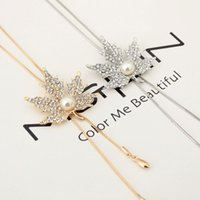 Wholesale Leaf Ornaments Wholesale - 2017 ornaments autumn and winter wild sweater chain long paragraph maple leaf necklace female decorative pendant snake chain accessories