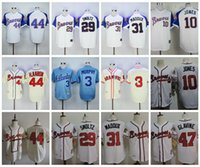 orange toms - Throwback Atlanta Braves Baseball Jerseys Hank Aaron Dale Murphy Greg Maddux John Smoltz Chipper Jones Tom Glavine Jerseys